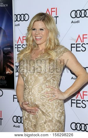 LOS ANGELES - NOV 10:  Megan Hilty at the AFI FEST 2016 - Opening Night - Premiere Of 20th Century Fox's 'Rules Don't Apply' at TCL Chinese Theater on November 10, 2016 in Los Angeles, CA