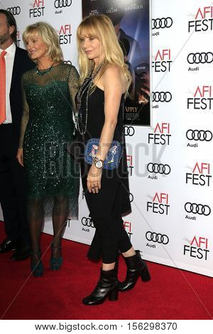 LOS ANGELES - NOV 10:  Rosanna Arquette at the AFI FEST 2016 - Opening Night - Premiere Of 20th Century Fox's 'Rules Don't Apply' at TCL Chinese Theater on November 10, 2016 in Los Angeles, CA
