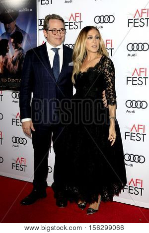 LOS ANGELES - NOV 10:  Matthew Broderick, Sarah Jessica Parker at the AFI FEST 2016 - Opening Night - Premiere Of 'Rules Don't Apply' at TCL Chinese Theater on November 10, 2016 in Los Angeles, CA
