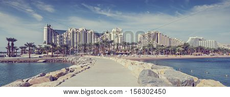 Eilat is a modern resort and recreation city located at the northern tip of the Aqaba gulf, Red Sea, Israel