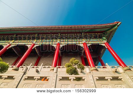 Pagoda Of Chinese New Year At Thai-chinese Temple, Dragon Temple Kammalawat (wat Leng Nei Yi)