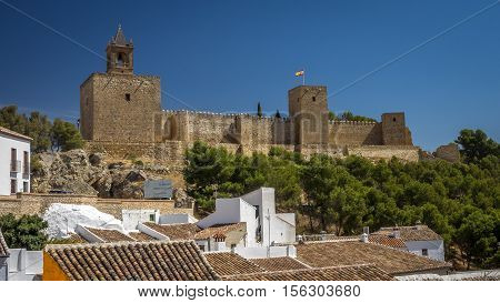 The historic castle at Antequera Andalucia Spain