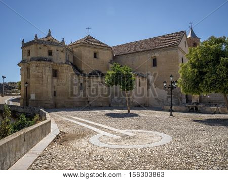 The historic church Iglesia de Carmen at Alhama de Granada Spain
