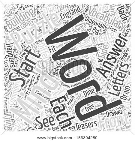 Mind Puzzles Brain Teasers word cloud concept