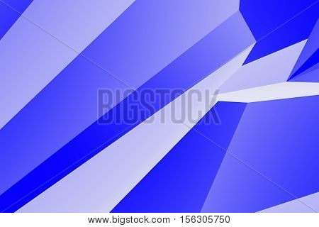 Abstract 3d geometric background in blue colors computer rendering