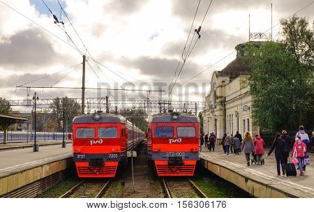 Trains At Station In Moscow, Russia