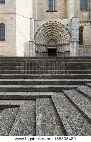 Girona (Gerona Catalunya Spain): the cathedral in gothic style