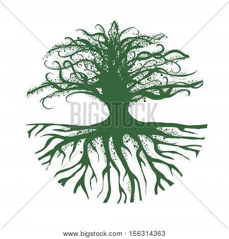 Illustration of Abstract Magic Round Tree Logo Design