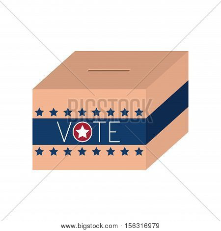Box icon. Vote president election government  and campaign theme. Isolated design. Vector illustration
