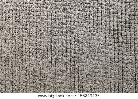 Fabric Texture Close Up of Gray Fabric Carpet Texture Pattern Background.