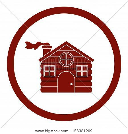Haus icon. Christmas season decoration and celebration theme. Isolated design. Vector illustration