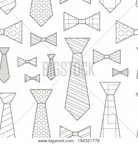 Pattern of Vector Ties and Bow Ties. Vector illustration, EPS 10