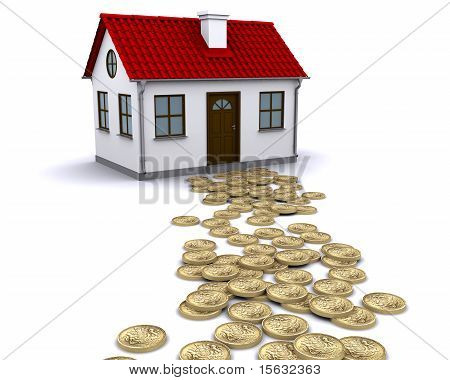 pound sterling money - the way to the house