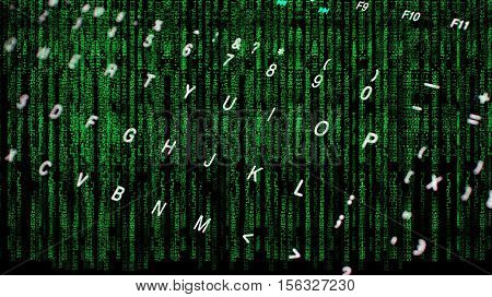 Computer  key board and matrix coding for iness