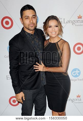Wilmer Valderrama and Eva Longoria at the 5th Annual Eva Longoria Foundation Dinner held at the Four Seasons Hotel in Beverly Hills, USA on November 10, 2016.