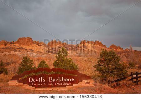 Devil's Backbone Larimer County Open Space - popular hiking and biking open space in Loveland Colorado