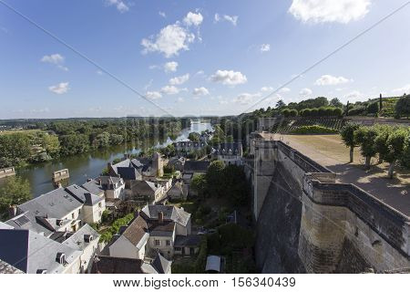 View From The Royal Chateau At Amboise