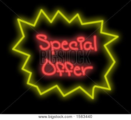 Neon Signboard - Special Offer