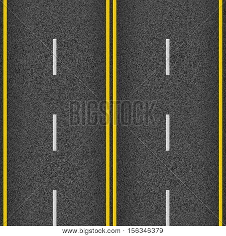 seamless texture road highway asphalt yellow with white markings