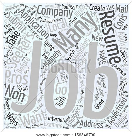 Should You Apply for Non Advertised Jobs word cloud concept