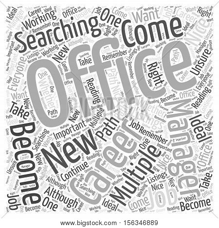Should You Become an Office Manager word cloud concept