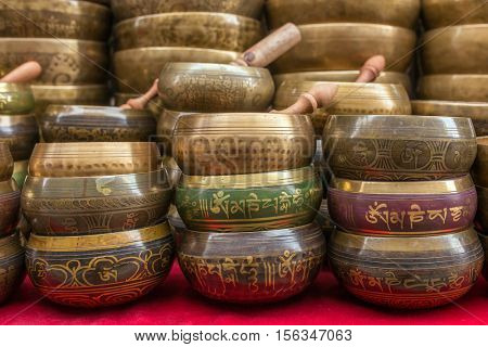 Singing Bowls (Cup of life) - popular souvenier in Nepal, Tibet and India.