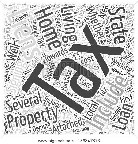Signing Into a Tax Liens word cloud concept