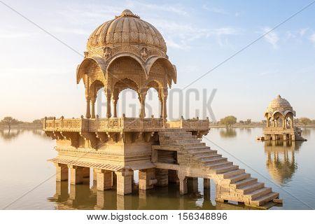 Gadi Sagar - artificial lake in Jaisalmer, Rajasthan, India