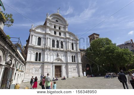 Saint Zaccaria Church In Venice