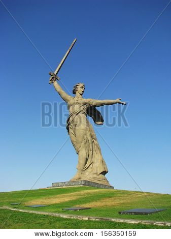 The Motherland Calls statue in Volgograd. Russia