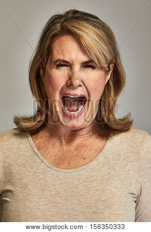 Angry screaming lady