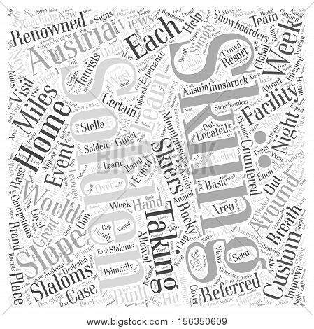 Solden In Austria word cloud concept text background