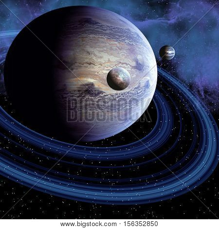 Unknown Planet 3D Illustration - There may be an unknown planet in our solar system or there may be a habitable planet out in the cosmos.