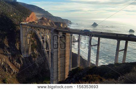 Bixby Bridge on California's Highway number One