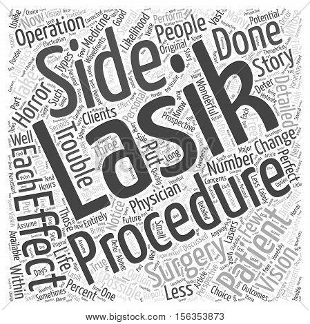 Statistics for Lasik Surgery Patients word cloud concept