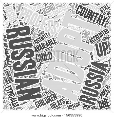 Status of Adoptions Russia word cloud concept