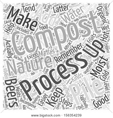Steps to Composting word cloud concept text background