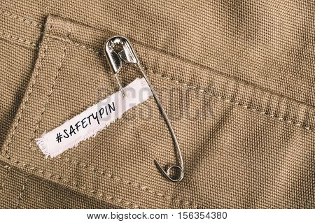 Safety Pins On Clothes As A Symbol Of Solidarity