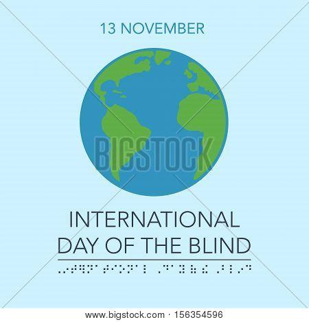 Blind Day Vector Illustration