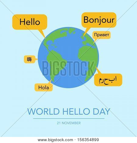 Holiday November 21 - World Hello Day.