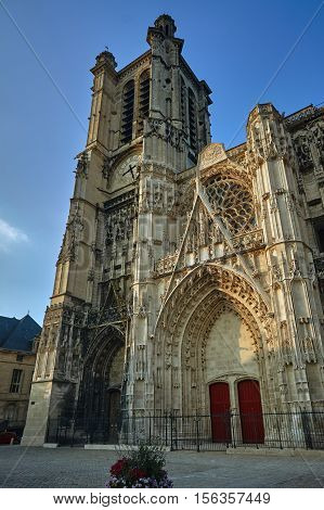 Gothic Saint-Pierre et Saint-Paul Cathedral in Troyes France