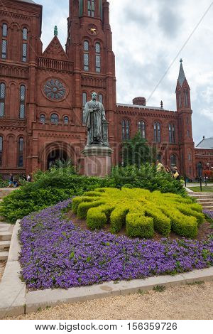 WASHINGTON DC - AUG 03, 2014: Arts and Industries Building is the masterpiece of Victorian architecture. This building belongs to Smithsonian museums, Washington DC, USA.