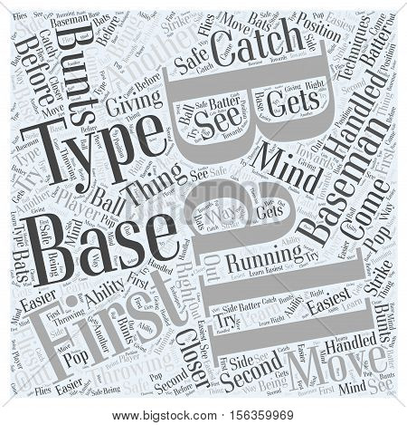 Techniques for the First Baseman word cloud concept