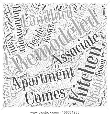 Tenants and Kitchen Remodeling What You Can Do word cloud concept