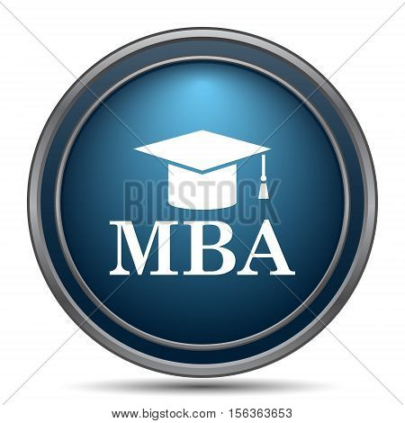 MBA icon. Internet button on white background. poster