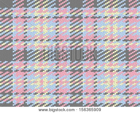 Seamless checked material pattern, tartan and plaid fabric background