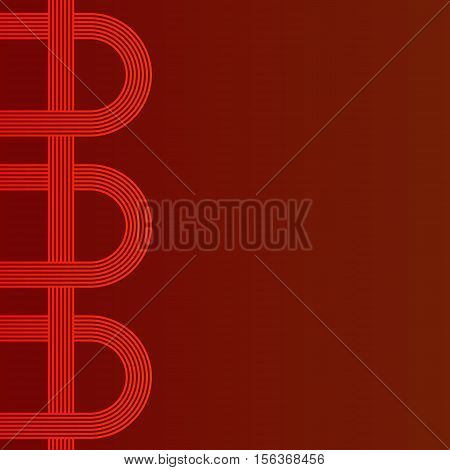 abstract vector background with stripes pattern - red