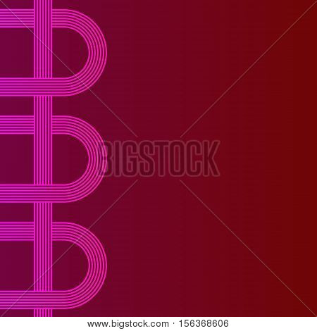 abstract vector background with stripes pattern - purple and red