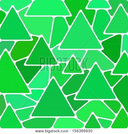 abstract vector stained-glass mosaic background - green triangles