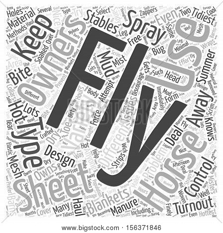 The Different Types of Fly Sheets word cloud concept